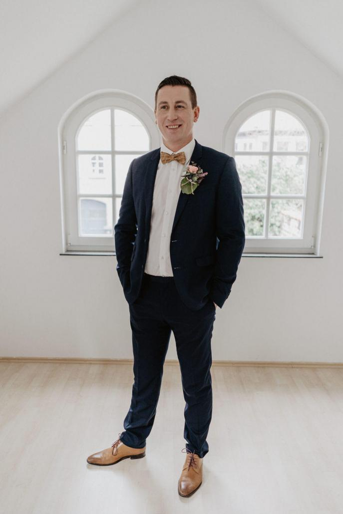 Vintage, Bräutigam, Anzug, Blau, Braun