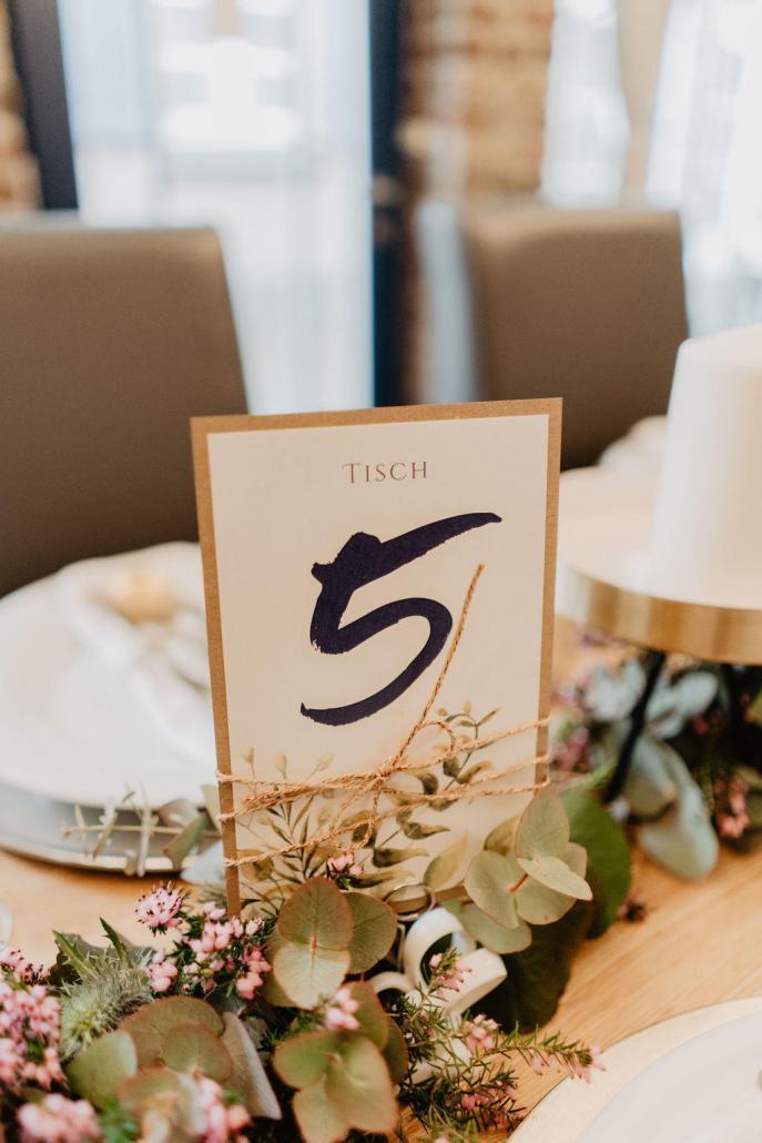 Vintage Hochzeit Blumen Tischnummer