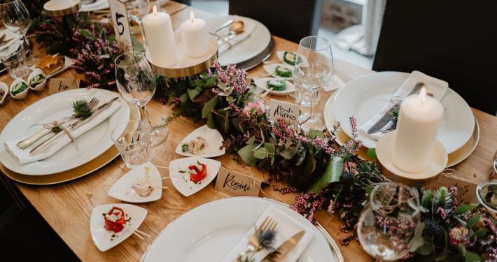 Vintage Hochzeit Location Innen Tisch