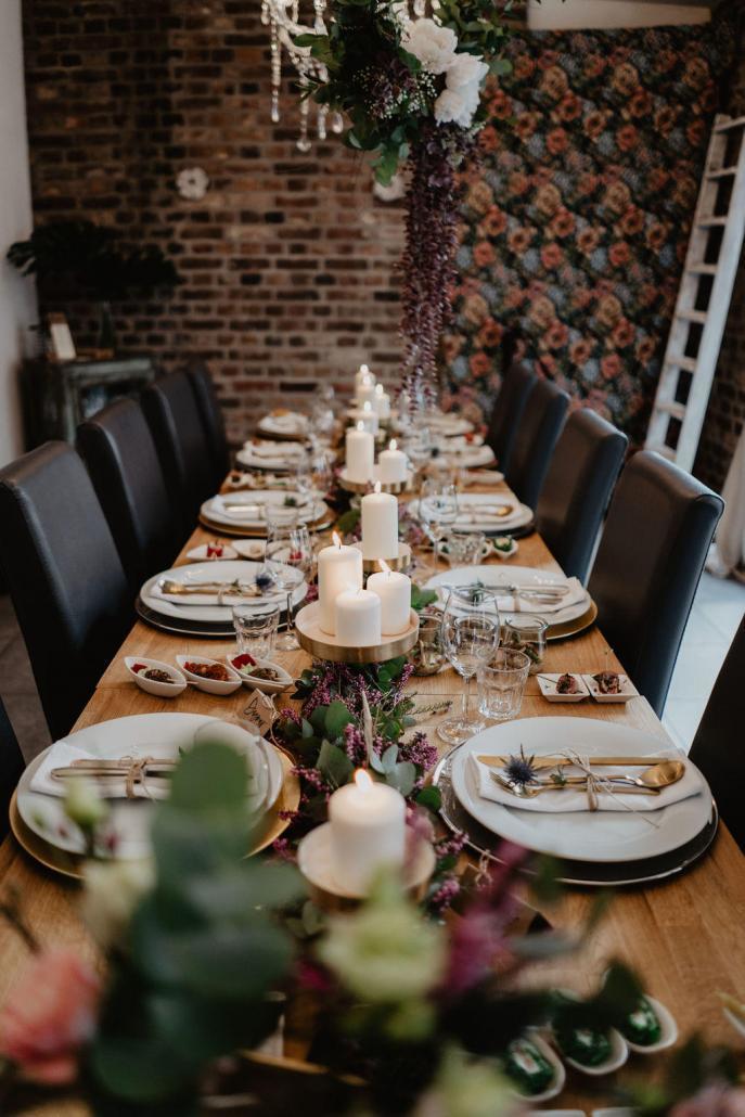 Vintage Hochzeit Tisch Dekoration