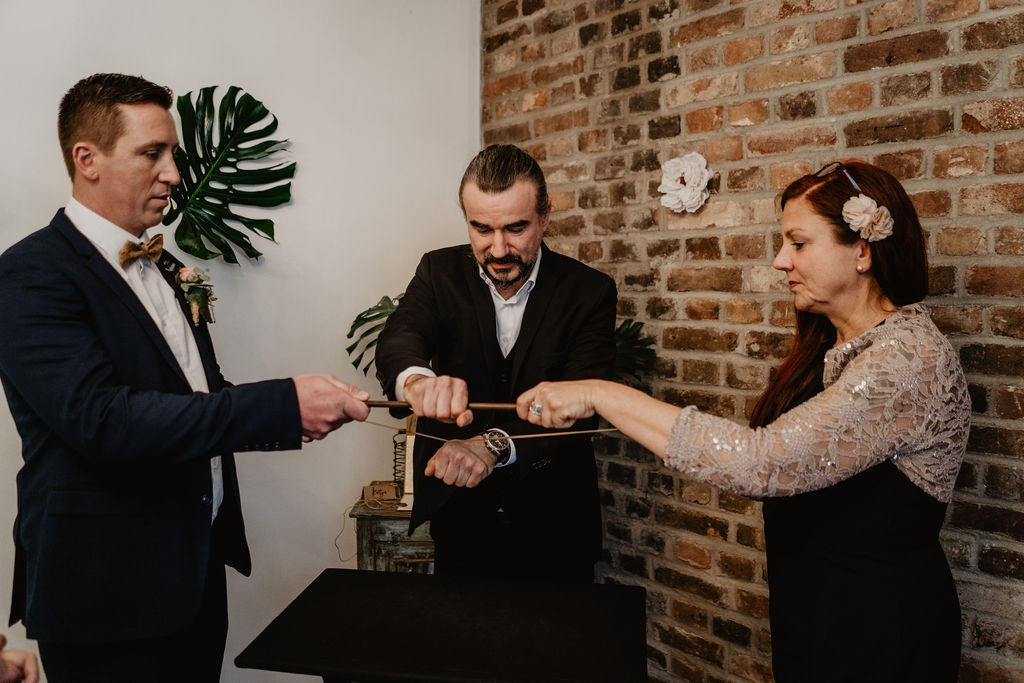 Zauberkünstler, Vintage, Hochzeit, Bräutigam