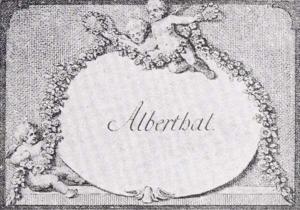 Visitenkarte Besuchskarte Weinhändler Alberthal