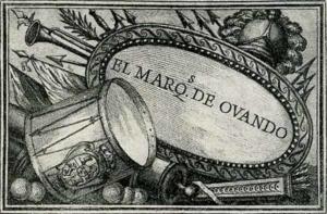 Visitenkarte Besuchskarte Marquis Ovando