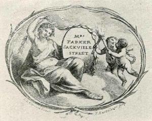 Visitenkarte Besuchskarte Parker