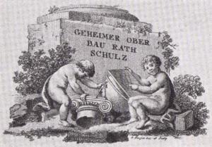 Visitenkarte Besuchskarte Oberbaurat Schulz