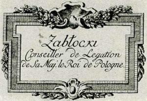 Visitenkarte Besuchskarte Zablocki