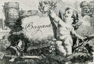 Visitenkarte Besuchskarte Bayard