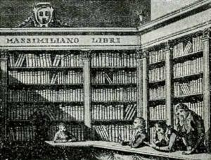 Visitenkarte Besuchskarte Bibliothek