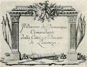 Visitenkarte Besuchskarte Baron Bumunique