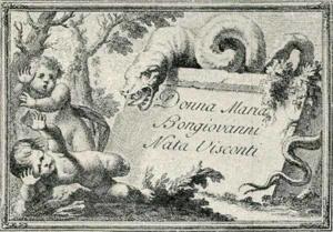 Visitenkarte Besuchskarte Donna Maria Bongiovanni