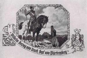 Visitenkarte Besuchskarte Wilhelm von Urach