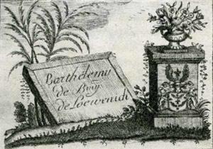 Visitenkarte Besuchskarte Loewenich