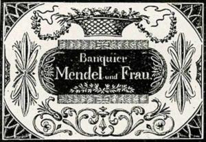 Visitenkarte Besuchskarte Bankier Mendel