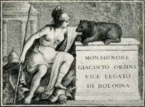 Visitenkarte Besuchskarte Monsignore Orsini