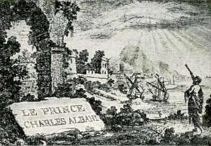 Visitenkarte Besuchskarte Prinz Albani