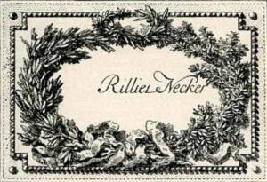 Visitenkarte Besuchskarte Rillier Necker