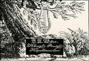 Visitenkarte Besuchskarte Kapellmeister B. A. Weber