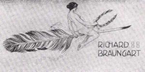 Visitenkarte Besuchskarte R. Braungart Radierung