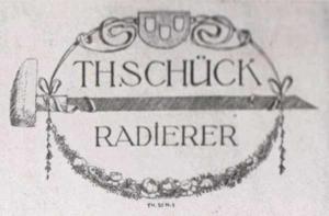 Visitenkarte Besuchskarte Th. Schück