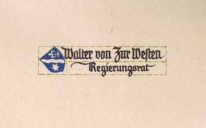 Visitenkarte Besuchskarte Rudolf Koch
