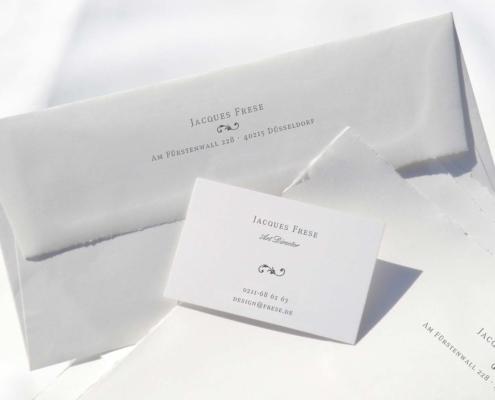 Büttenpapier, geschäftliche Drucksachen, Druckerei Düsseldorf