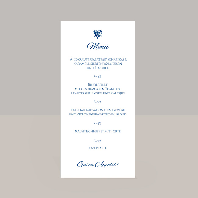 Hochzeit Menükarte Buettenpapier