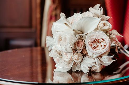 Brautstrauß Silberblatt Rosen Calla Arbrautstrauß silberblatt rosen calla art deco Hochzeitt Deco Hochzeit