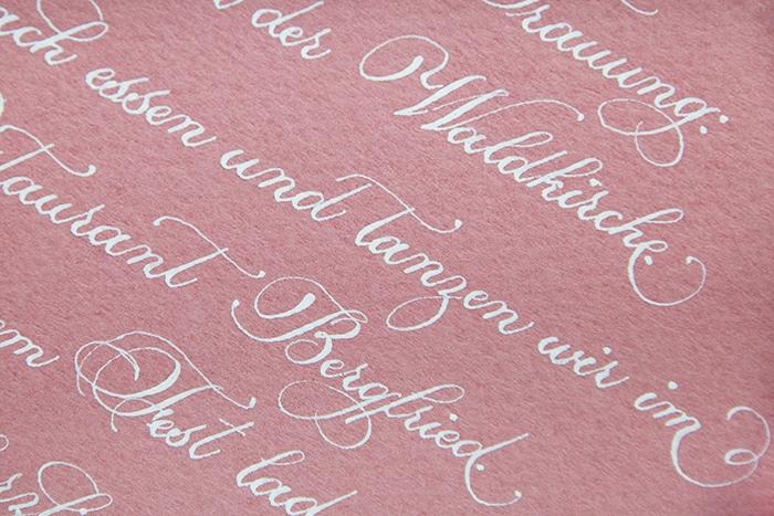 kalligraphie hochzeit liebe brief